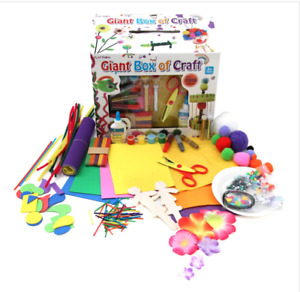 Arts And Crafts Box Set 1000 Pieces Kit Kids Creative Toys Children Drawing NEW