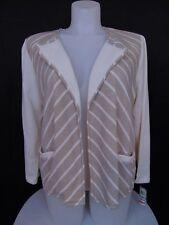 Style & Co Plus Size Color Block Striped Blazer Cardigan Beige Ivory 1X #104