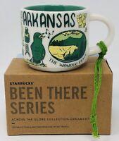 Starbucks Been There Series 2oz Coffee Mug Ornament Arkansas Mini NIB