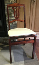 Vintage Mid Century STAKMORE Folding Chairs.