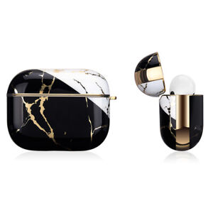 Apple AirPods Pro Marble Gold Case Shockproof Cover Luxury w/ Holder (Portoro)