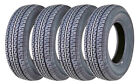 Set 4 FREE COUNTRY Heavy Duty Radial Trailer Tires ST205/75R15 10PR Load Range E