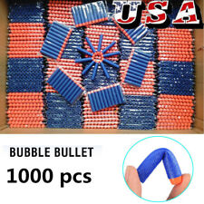 1000 Pcs Foam Refill Bullet Darts for Elite Series Blasters Kids Gun Toy Funny