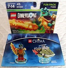 LEGO DIMENSIONS FUN PACK 71223 - CHIMA CRAGGER & SWAMP SKIMMER - ONLY ONES!  MIB