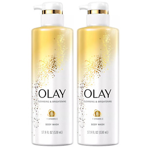 (2) Olay Cleansing Nourishing Body Wash with Vitamin B3 and Vitamin C 17.9 fl oz