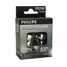 Philips Silver Vision PY21W Indicator Bulbs (Twin Pack of Bulbs)