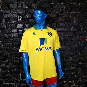 Norwich City Jersey Home football shirt 2012 - 2013 Yellow Errea Mens Size XXL