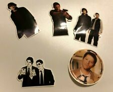 Set of 5 Supernatural Stickers- Featuring Sam, Dean, and Castiel