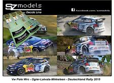 1/43 Rally Decal Addit Vw Polo Wrc Ogier Latvala Mikkelsen Deutschland 2015 Ixo