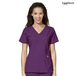 WonderWink Scrubs W123 Women's Medical Uniform Stylized V-Neck Top 6155