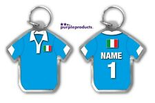 Personalised ITALY Rugby Team Supporters Jersey Shirt Keyring