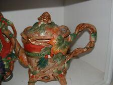 Fitz & Floyd Classics Handcrafted Christmas Lodge Teapot -