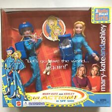 2002 Mary Kate and Ashley in Action Doll Set w Dog Parachute SPF 5000 TV Show