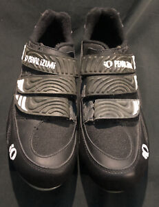Mens Pearl Izumi Cycling Shoes I-Beam Sz 9 EUR 42 Black Trail Biking Clip In