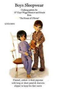 KWB18001 Boys Sleepwear pattern to fit r Kaye Wiggs,Maurice & friends, MSD