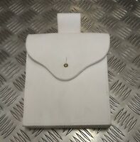 Genuine British Military Ceremonial White Buff Leather Pouch Brigade of Guards 2