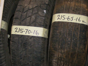 215 70 65 16 PART WORN TYRE FITTED AND BALANCED
