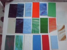 ca. 3 Kg Tiffany-Glas, versch. Farben u. Sorten, gr. Stücke.