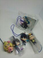 6pc Blue exorcist figure keychain strap charm anime kawaii Japan lot