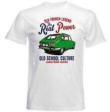 VINTAGE Francese AUTO RENAULT 16-Nuova T-shirt di cotone