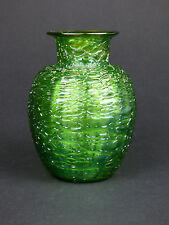 Loetz Crete Chiné glass vase iridescent green Art Nouveau Bohemian Jugendstil