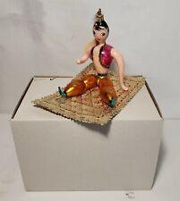 LMAS ~ Laved Italian Glass Ornament - Aladdin On Magic Carpet Lt Ed
