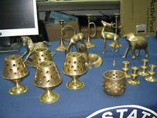 Vintage Brass Figurine Collection 18 Pieces