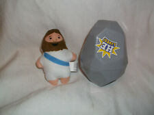 PLUSH JESUS CHRIST DOLL IN TOMB PLASTIC EASTER EGG BASKET TOY GIFT CHURCH SUPPLY