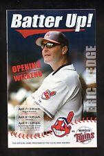 Cleveland Indians--Eric Wedge--2006 Batter Up! Program vs Minnesota Twins