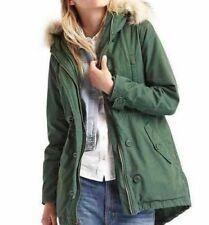 NWT $248 GAP Womens PrimaLoft Faux Fur Snorkel Parka Jacket Coat Black XS M L XL