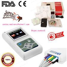 CONTEC 12-CH colori ECG Holter e registratore Analyzer, Holter Monitor TLC5000