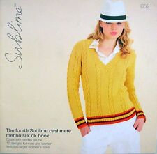 SUBLIME Knitting Pattern Book - FOURTH SUBLIME CASHMERE MERINO SILK DK - VGC