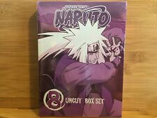 Naruto uncut box set 8 w/ storyboard booklet on DVD by Viz Media / NEW