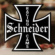 Schneider Racing Cams Sticker Aufkleber Hot Rod V8 Old School Iron Cross 100mm