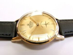 Gold Plated CORNAVIN-GENEVE SWISS watch from the 1960s | The Swiss Beauty