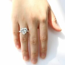 2.50 Ct White Heart Cut Solitaire Cz Fine Engagement Ring In 925 Sterling Silver