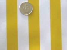 YELLOW CABANA STRIPES PICNIC BEACH DINING VINYL OILCLOTH TABLECLOTH 48x84 NEW