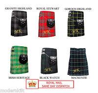 New Scottish Men Kilts 5 yard Tartan Traditional Highland Dress 13oz casual Kilt
