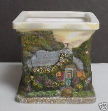 Thomas Kinkade Porcelain Square Votive Tea Light Holder Cottages Four Sides