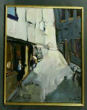 Tableau Original Gérard Grussot 1985 la Rue du Chaudron école Alsacienne