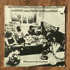 Traffic – Welcome To The Canteen LP. UK 1st 1971 -Pink rim label  Island Record