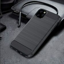For iPhone 11 X XS MAX XR 8 7 Plus Slim Carbon Fiber Soft TPU Rubber Cover Case