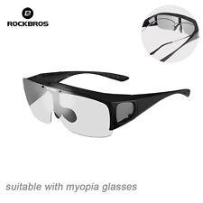 RockBros Polarized Cycling Sunglasses MTB Bike Goggles for Myopia Glasses