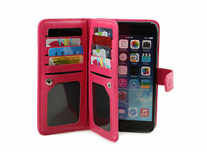 """New iPhone 6 iPhone 4.7"""" Leather Wallet Card Holder Flip Stand Case Cover (Pink)"""