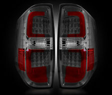 2014-2016 Toyota Tundra Rear Brake & Reverse Smoked Taillights w Brake LED Bulbs