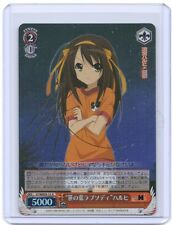 Weib Weiss Schwarz Melancholy of Haruhi Suzumiya signed TCG Anime card R  #3