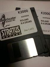 Kurzweil ~ STRATUS ~ ROLAND R-8 DRUMS ~ 2 Disk Set of Krz / V.A.S.T. Programs!!!