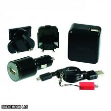 Logic3 3-in-1 Power Kit Caricabatteria ANDROID BLACKBERRY Kindle Windows Phone