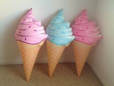 "36"" Giant Inflatable Ice Cream Cones <<<New>>> Choose Pink, Purple or Blue"