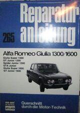 * Alfa Romeo Giulia 1300 1600 GT Junior GTA Spider Junior Reparaturanleitung *